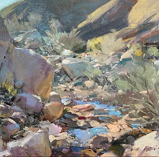 Around the Bend_Palm Canyon - 12x16_smal