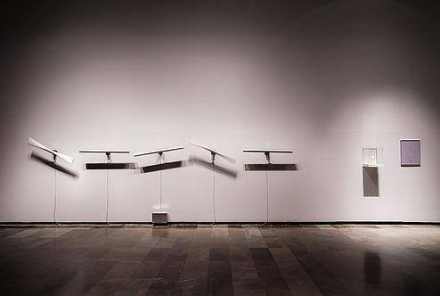 new media art electromechanical light installation
