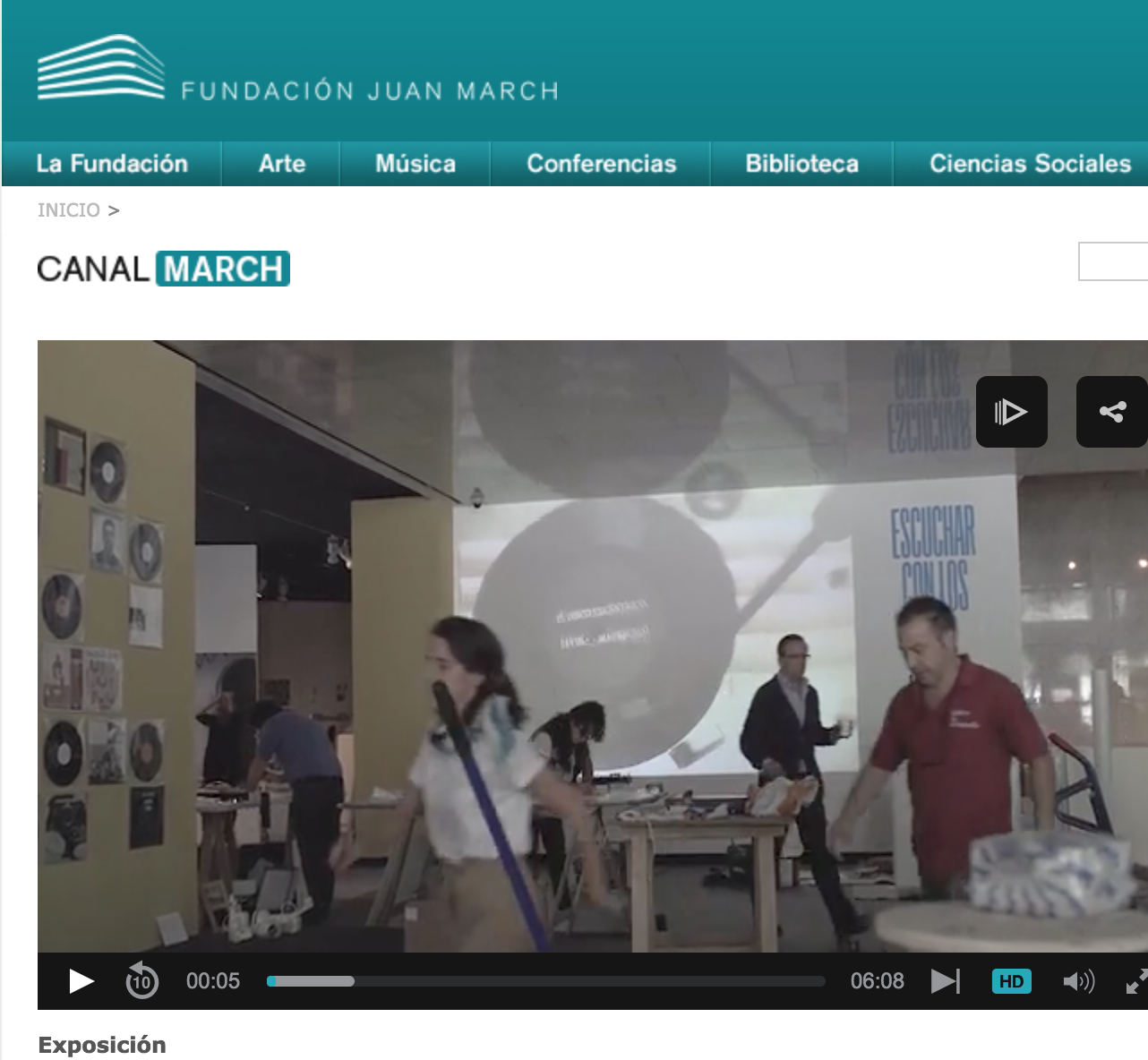 Fundación JUAN MARCH | video