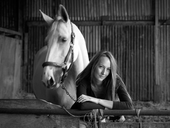 girl & horse