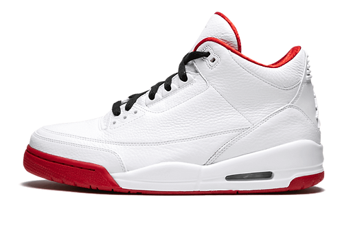 Air Jordan 3 WHITE/VARSITY-RED/BLACK
