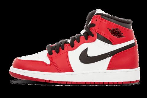 AIr Jordan 1 Retro High OG GS Chicago WHITE/VARSITY RED-BLACK