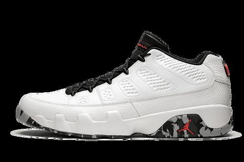 Air Jordan 9 Retro Low Jordan Brand Classic WHT/INF23-BLK-DK GRY-WOLF GRY
