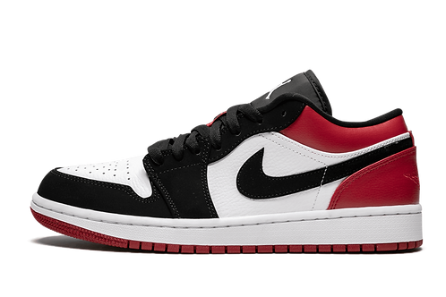 Air Jordan 1 Low Black Toe WHITE/BLACK-GYM RED