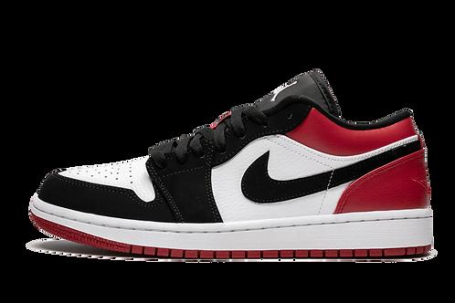 Air Jordan 1 Low Black Toe WHITE/BLACK-GYM RED
