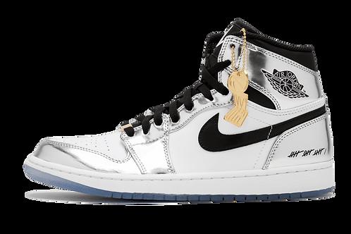 Air Jordan 1 Hi Retro Think 16 Pass The Torch CHROME/BLACK-WHITE-TURBO GREEN