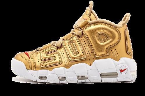 "Nike Air More Uptempo Supreme ""Suptempo"" METALLIC GOLD/WHITE 902290 700"