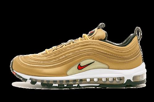 Nike Air Max 97 OG QS 2017 METALLIC GOLD/VARSITY RED 884421 700