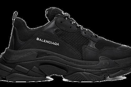 BALENCIAGA TRIPLE S TRAINERS BLACK