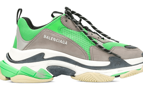 Balenciaga Triple S green / grey / white