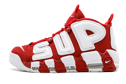 "Nike Air More Uptempo Supreme ""Suptempo"" VARSITY RED/WHITE 902290 600"