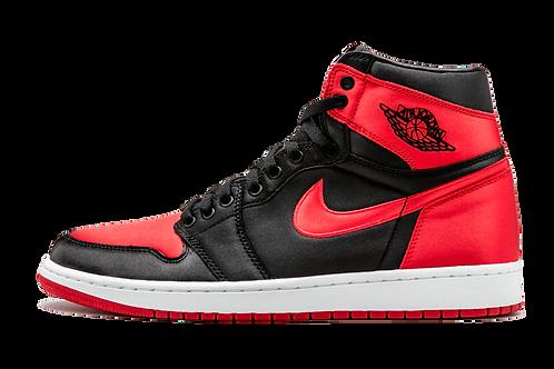 Air Jordan 1 Retro High OG SE Satin BLACK/UNIVERSITY RED-WHITE