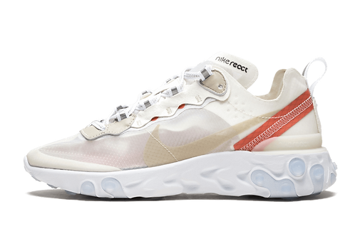 Nike React Element 87 Sail Light Bone-White