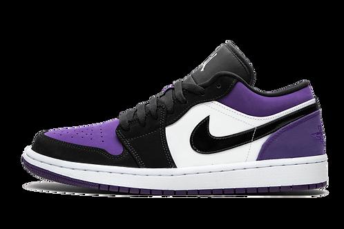 Air Jordan 1 Low Court Purple WHITE/BLACK-COURT PURPLE