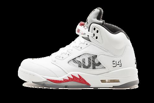 Air Jordan 5 Retro Supreme WHITE/BLACK-VARSITY RED
