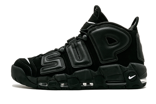 """Nike Air More Uptempo Supreme """"Suptempo"""" BLACK/BLACK-WHITE 902290 001"""