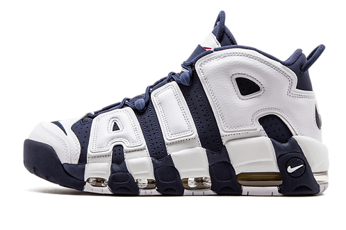 """Nike Air More Uptempo (GS) """"OLYMPIC"""" WHITE/MID NVY-MTLLC GLD-UNVRST 415082 104"""