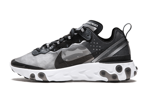 Nike React Element 87 Anthracite Black-White