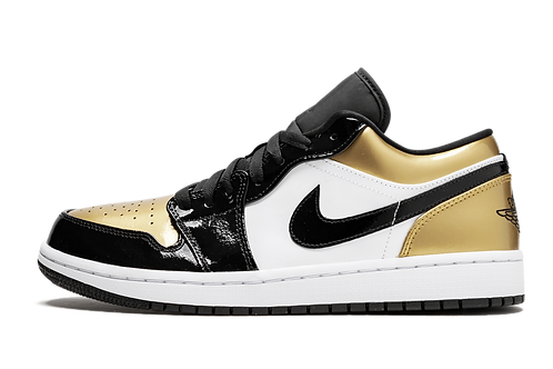 Air Jordan 1 Low Gold Toe BLACK/GOLD-BLACK