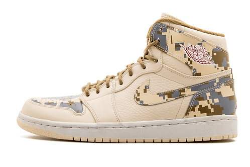 Air Jordan 1 Retro Digi-Camo NATURAL/G RED-CAMO-SILVER