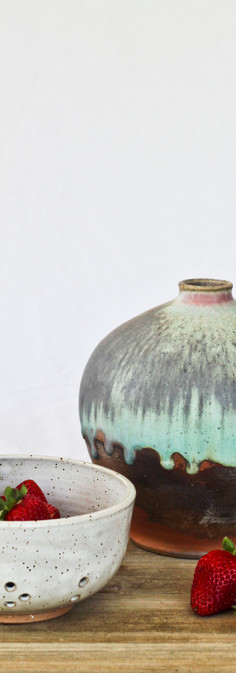 Berry Bowl and Wood-Fired Vessel