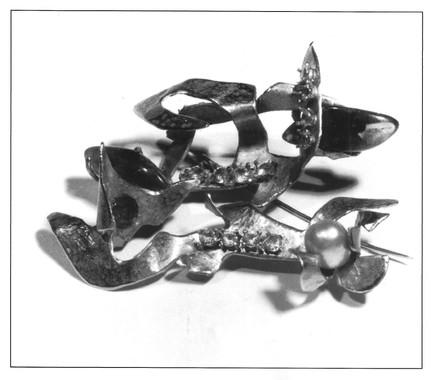 Spilla perle e oro