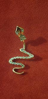Piercing serpent strass