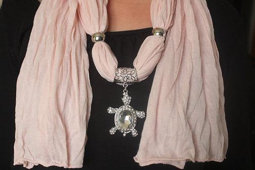 Foulard + bijoux tortue (différentes couleurs)