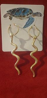 Boucle d'oreille serpent