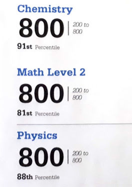 SAT Physics Subject Test Full Score Possible