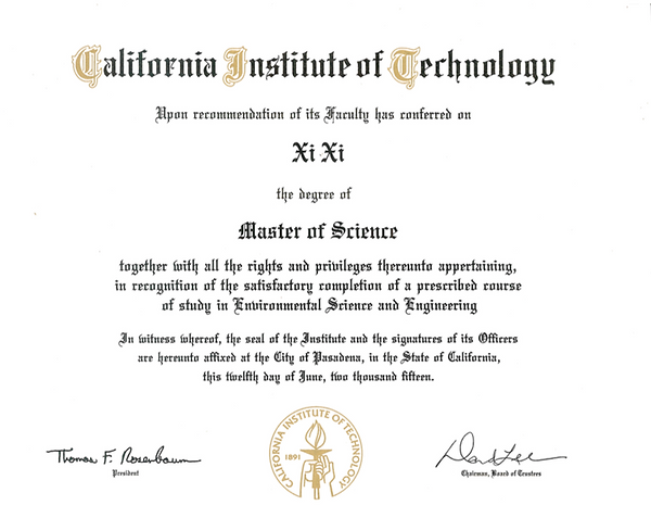 Master Degree from Caltech held by Physics Master Tutor