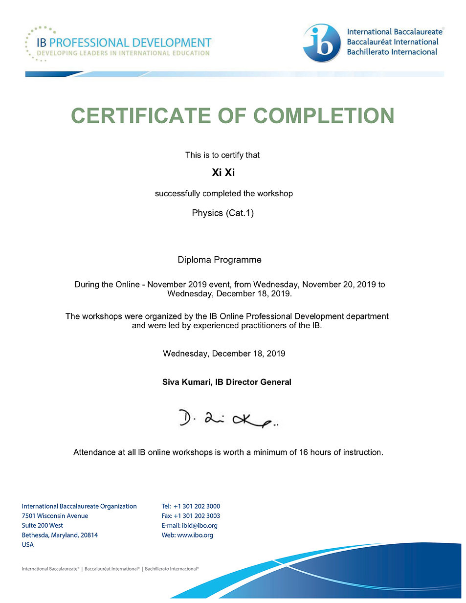 IB Certicate for Physics Xi Xi.jpg
