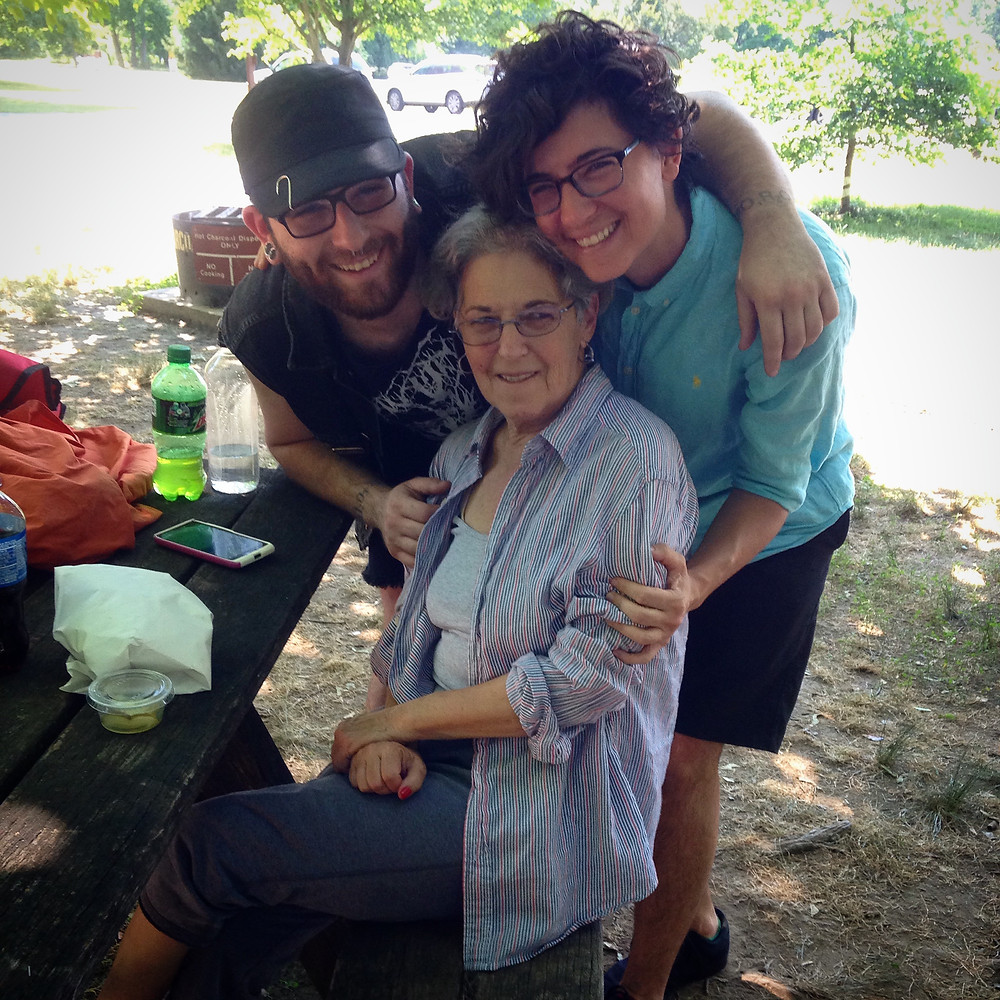 Justin, Mama and I after her first 4 days straight of chemotherapy.