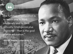 In Observance of Martin Luther King, Jr.