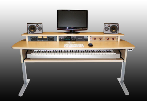 Attractive Summit Keyboard Desk Sit Stand Workstation  Maple | Music Studio Desks /  Home Studio Workstations