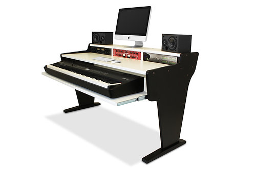 Spike 88 Black U0026 White Workstation Desk
