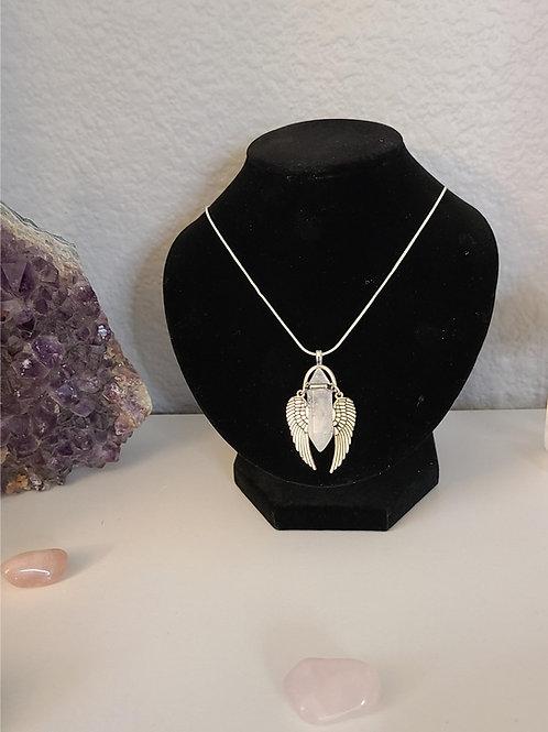 Quartz Crystal Angel Pendant & Necklace