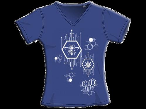 T-Shirt - Navy - Donna