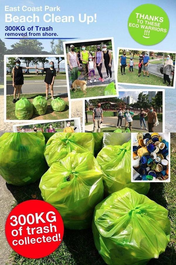 beach clean up east coast park singapore