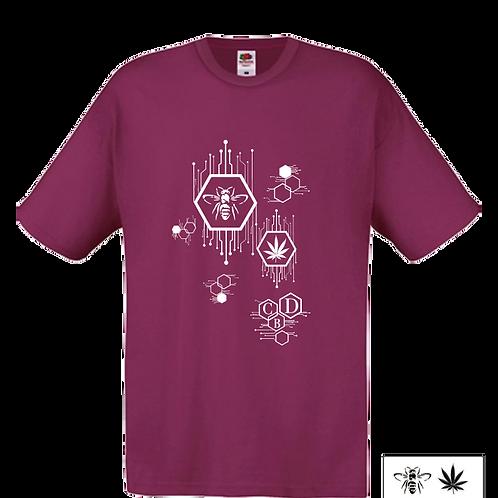 T-Shirt - Burgundy - Uomo