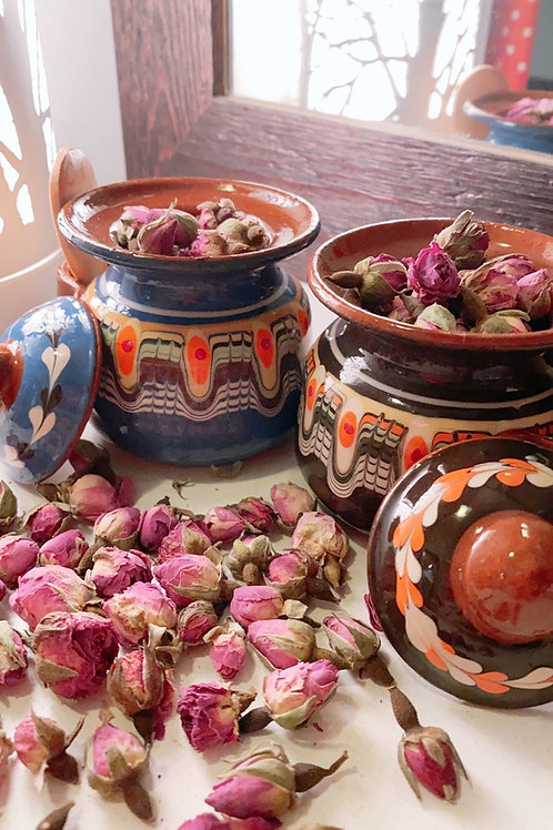 Exquisite Bulgarian Rose Tea (20g) with Traditional Hand-made Pot