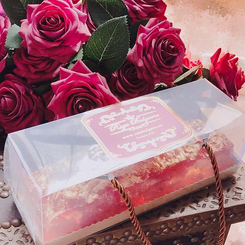 金箔有機玫瑰水晶糕