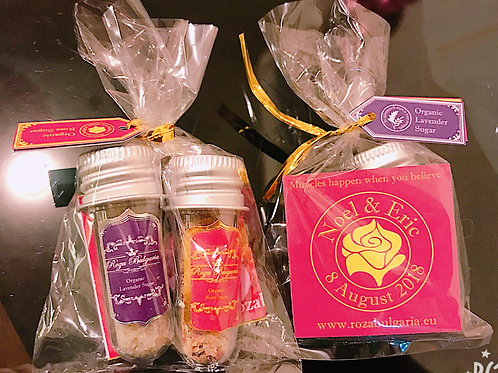 Wedding gifts (Organic Rose sugar + Lavender Sugar ) 結婚回禮小禮物 (有機玫瑰花糖+有機薰衣草糖)