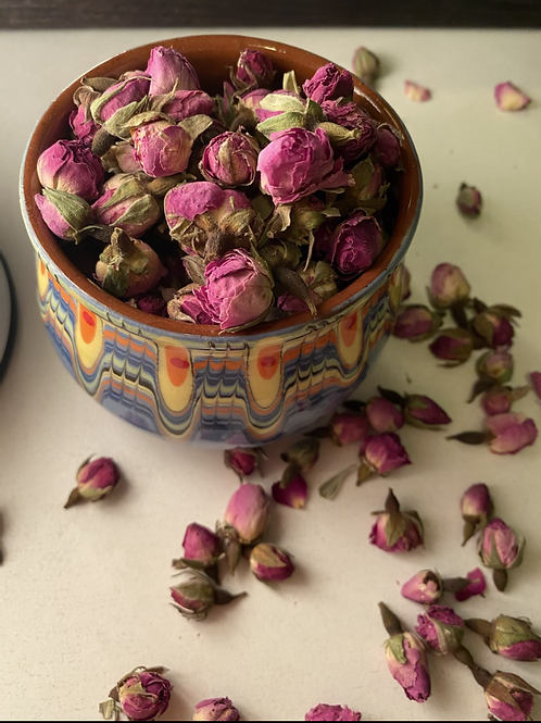 Exquisite Bulgarian Rose Tea(50g)with Bulgarian Traditional Hand-made Container