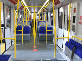 Ottawa Light Rail Mockup Interior