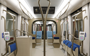 Lusail Light Rail Mockup Interior