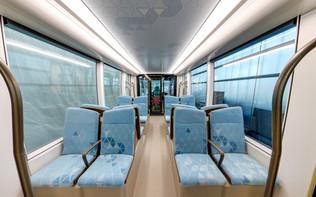 Lusail Light Rail Mockup Interior Seats