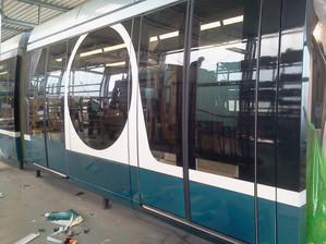 Lusail Light Rail Mockup Middle Car