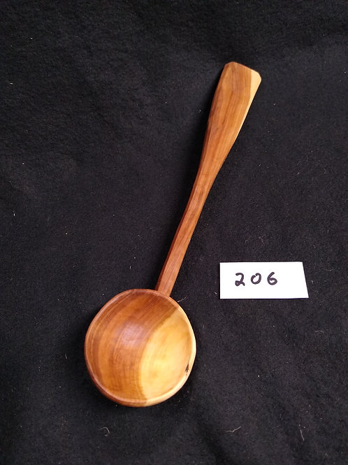 "#206, Serving Spoon, apple, 11"", free shipping in continental USA"