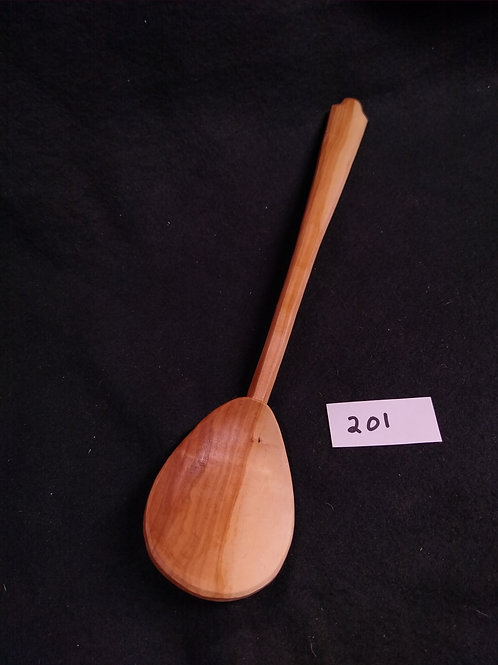 """#201, Cooking Spoon, apple,13.5"""", free shipping in continental USA"""